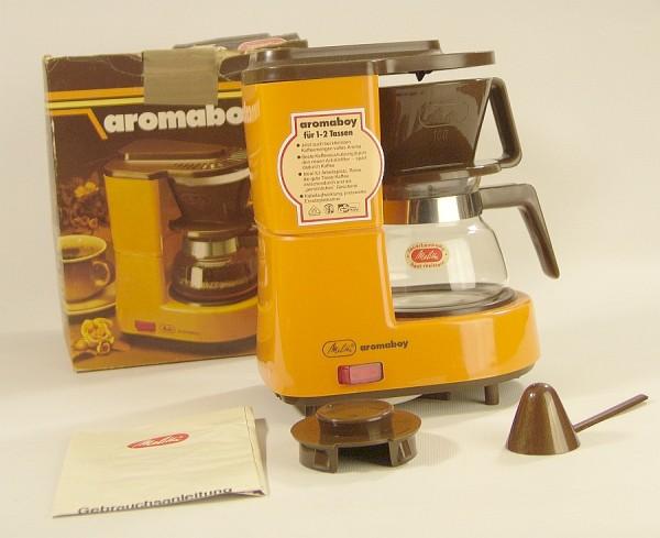 70er Jahre MELITTA AromaBoy Mini Kaffeemaschine - 1 Pers. Orange