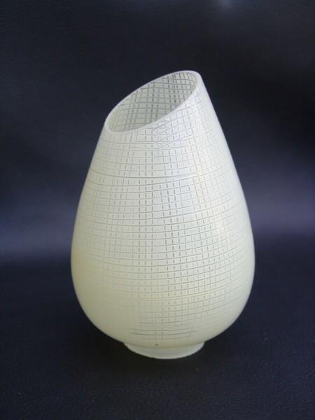 50er Jahre Glas Lampenschirm - gelb (creme)
