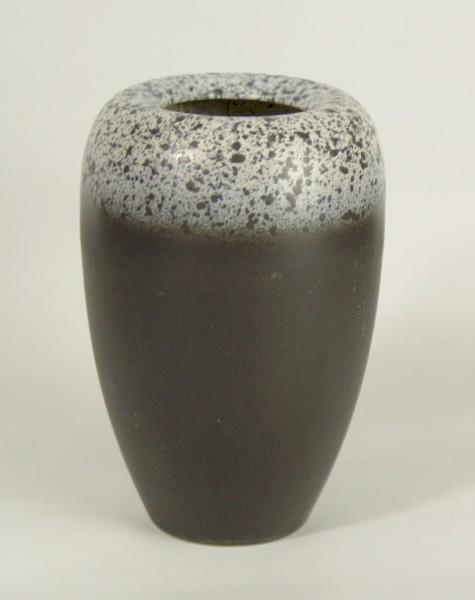 50er Jahre GS Keramik Vase - schwarz/weiss