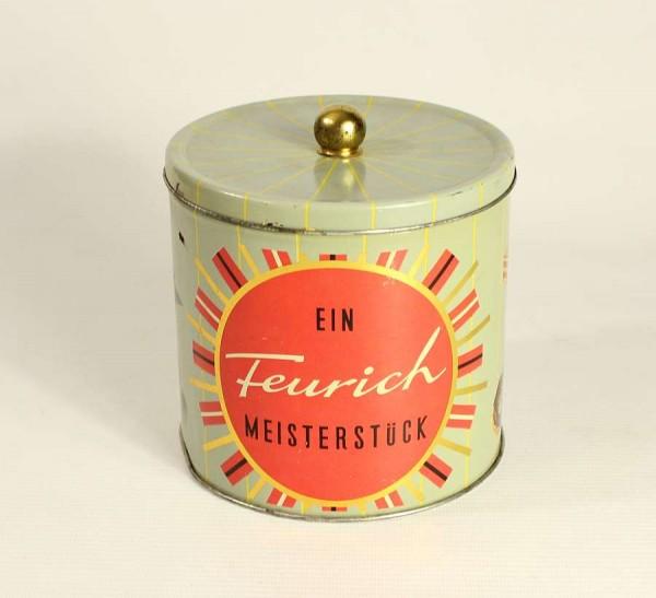 50er Jahre Blechdose - Feurich Meisterstück Kekse