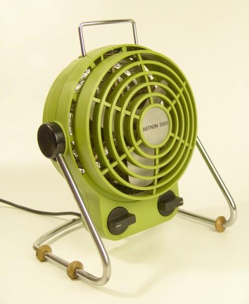 70er Jahre Ventilator + Heizlüfter - ASTRON 2001 - Grün/Chrom