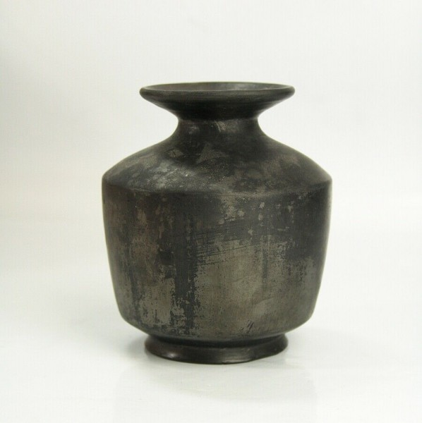 Laura Oxaca Mexico Blackware - Schwarzkeramik Vase - signiert - Unikat