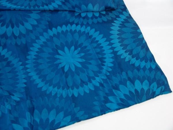 60er Jahre Gardine - Vorhang - blau - 1 Paar - je 160 x 110 cm