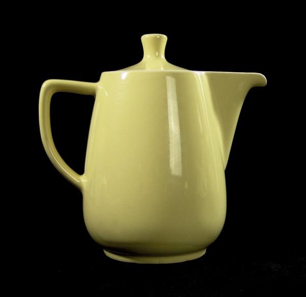 Große 50er Jahre Keramik Kanne - Kakao - Tee - Gelb