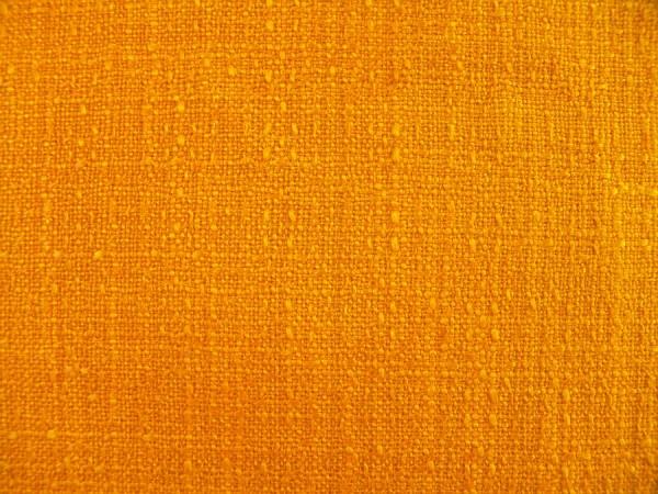 70er Jahre Vorhang - Gelborange - L 160 cm - B 120 cm