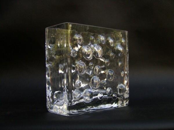 70er Jahre Blockvase - Bubbles - plastisch