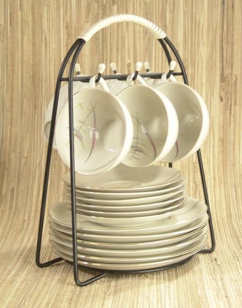 50er Jahre Menagere für 6 Gedecke - String Design (ohne Gedecke)