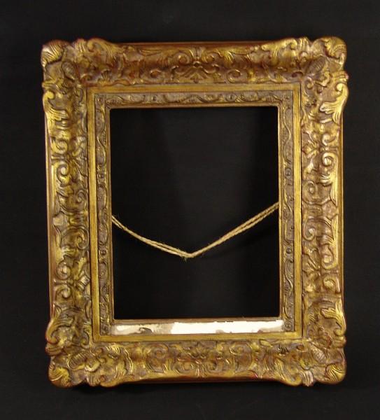 Antiker Bilderrahmen - Holz - Stuck - Gold - 40 x 46 cm