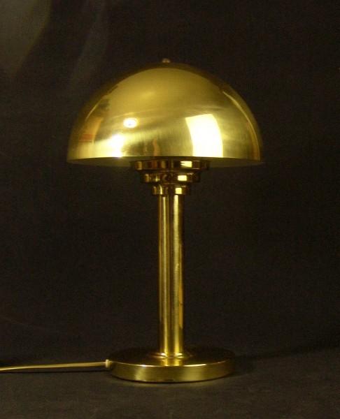 80er Jahre Tischlampe - Art Deco Stil - Pilz - Gold