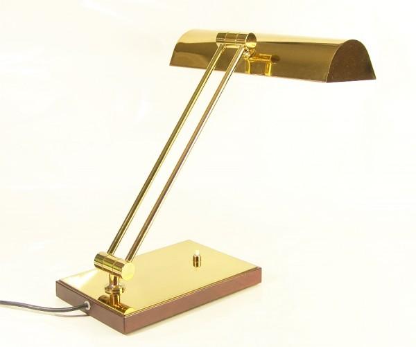 Messing Schreibtischlampe ~1980 , Bankers Lamp