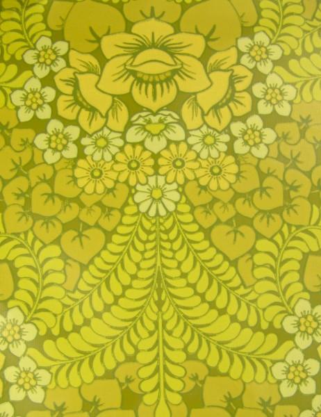 70er Jahre Tapete - Rolle (Rest) - Grün