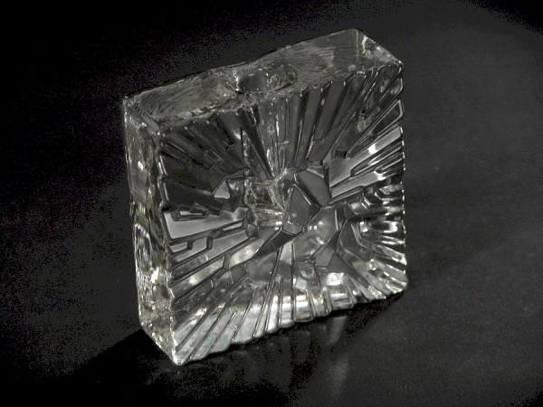 60er Jahre Glas Blockvase