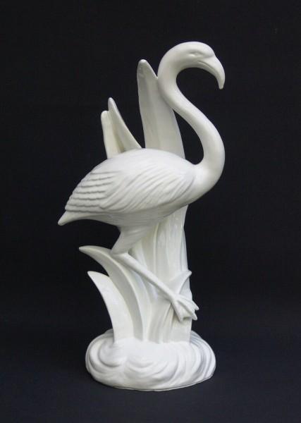 40 cm Porzellan Figur - Flamingo - 50er Jahre