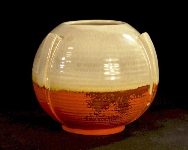 30er Jahre - Art Deco Keramik Vase - Kugelvase