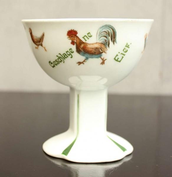 "Antik Porzellan - Rosenthal Fußschälchen ""Geschlagene Eier"""