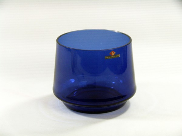 60er Jahre Wiesenthalhütte Glas Vase -blau