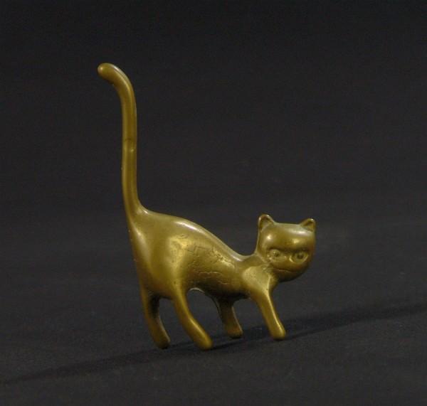 Kleine 50s Messingfigur - Katze