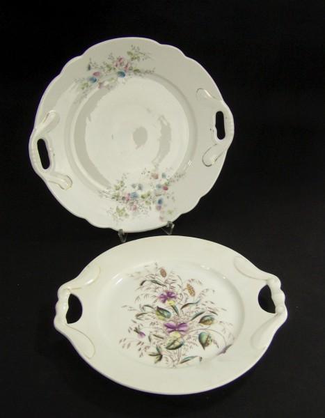 Antik Porzellan Teller - 2 Stück