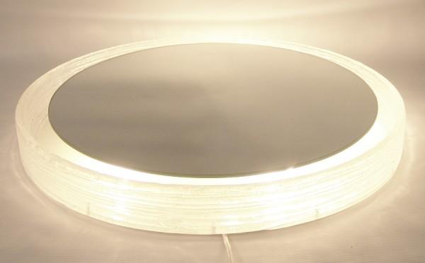 HILLEBRAND Spiegel - indirekt beleuchtet - 60er Jahre - D: 57 cm