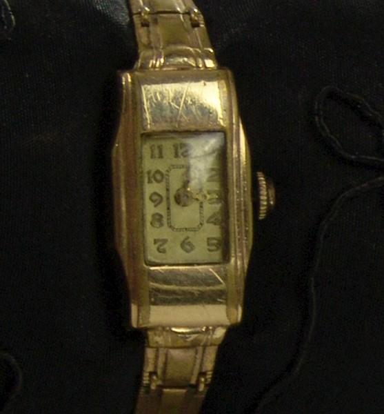 Art Deco Damen Armbanduhr - KASPER - vergoldet - mechanisch
