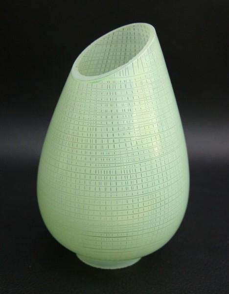 50er Jahre Glas Lampenschirm - grün