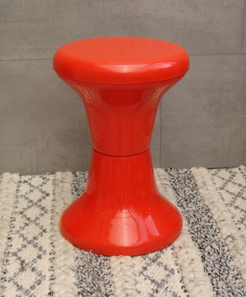70er Jahre Hocker - Kunststoff - Orange