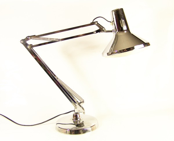 70s LUXO Schreibtischlampe - Vollverchromt