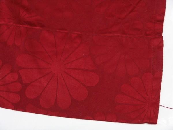 60er Jahre Gardine - Vorhang - rot - 1 Paar - je 160 x 110 cm