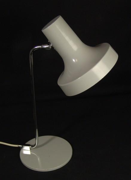 60er Jahre Hustadt Schreibtischlampe - Tischlampe - grau / chrom