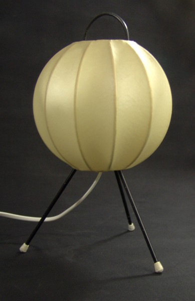 50er Jahre Cocoon Tischlampe - Tripod