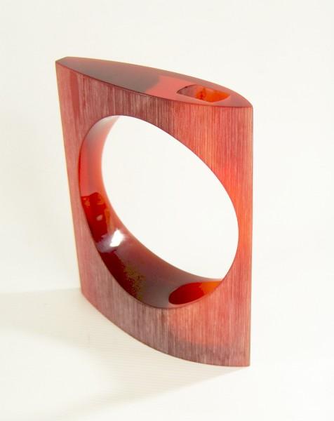 Full Moon Ikebana Vase - Jacqueline Guénot Creations - 70er Jahre Orange