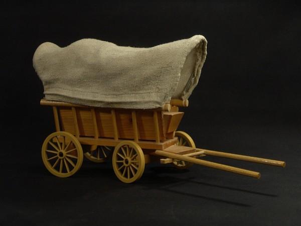 Vintage VEB Piko Leiterwagen mit Plane (+1) Holz