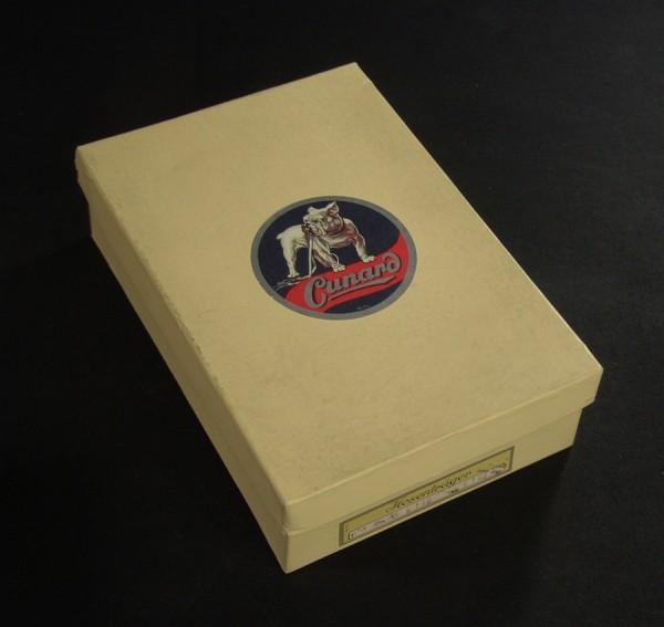 50er Jahre Verkaufsschachtel - CUNARD Hosenträger