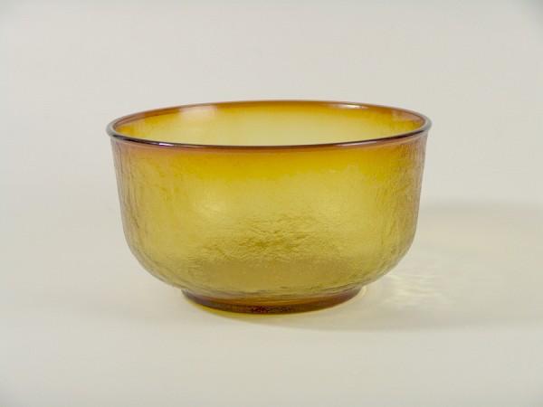 Vintage Pressglas Schüssel - Bernstein / Honigfarben