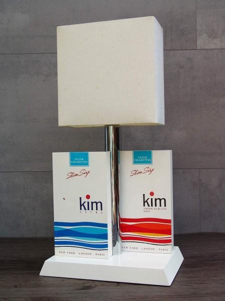 70er Jahre KIM Zigaretten Werbung - Stehlampe - Tischlampe