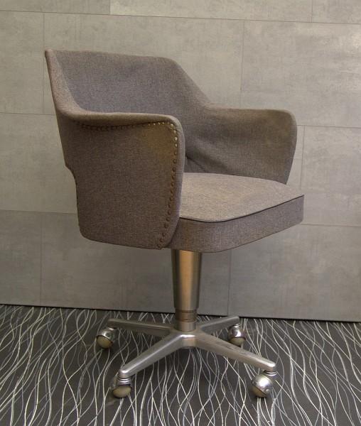 Drehstuhl - Schreibtischstuhl - Art Deco ~ 1940 - Federkern