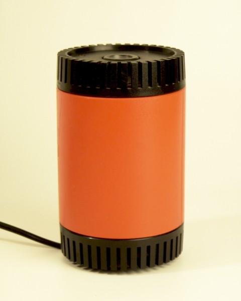 70er Jahre Schott Astax Glasfaserlampe (nur Fuß) - Orange