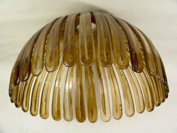 Großer 70er Jahre Acryl Lampenschirm - 45 cm