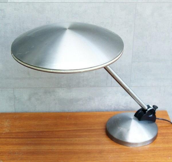 70s ALUMINOR Schreibtischlampe - UFO - silber