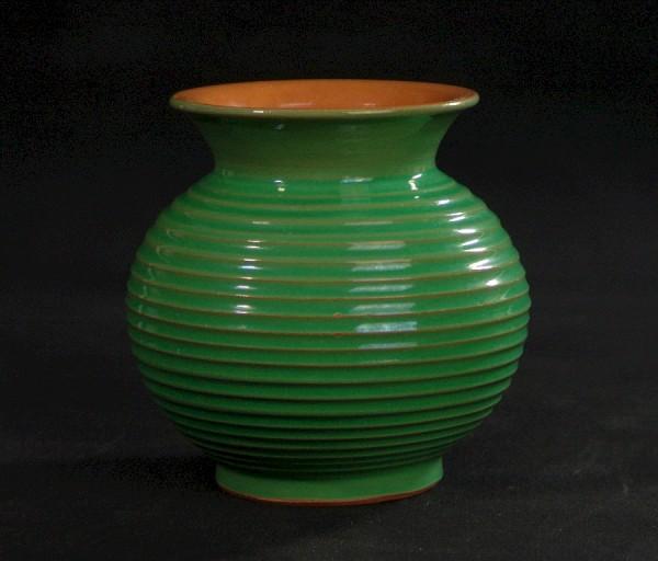 Vintage Keramik Vase - Elster-Keramik - Bienenkorb - Grün