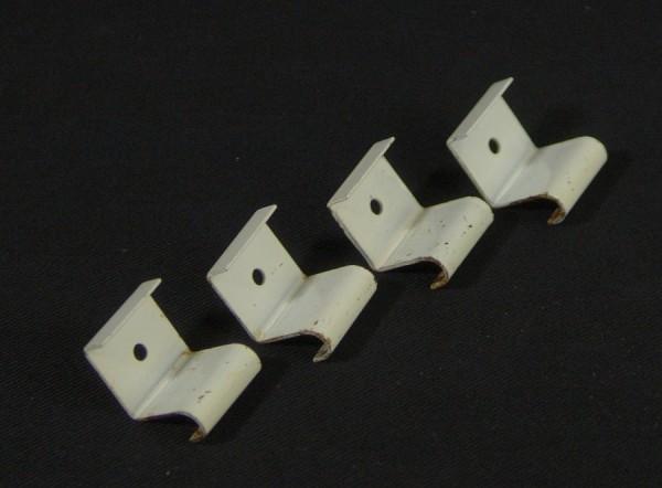 4 Stück WHB String Regal Bodenträger - Weiss - Klammern - Halter