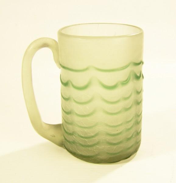 Alter Bierkrug - Humpen - Glas - grün