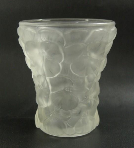 Bohemia Vase - Satiniertes Glas - Stiefmütterchen - 15 cm
