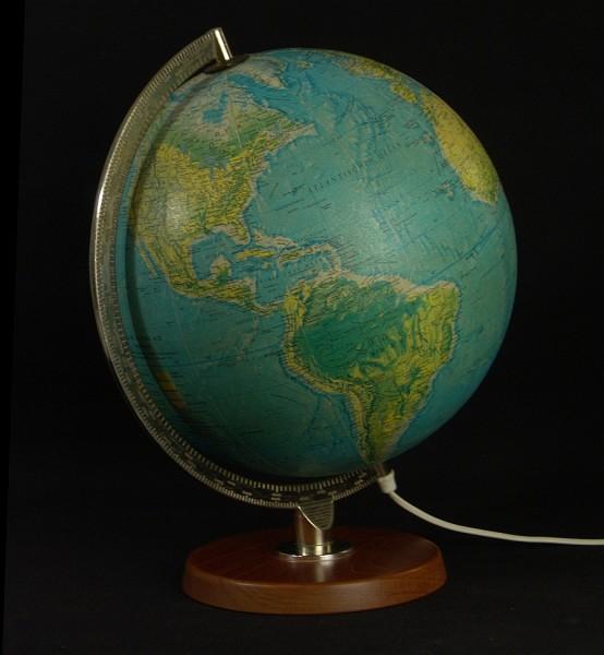Scan-Globe Copenhagen, Dänemark - 70er Jahre Globus - beleuchtet