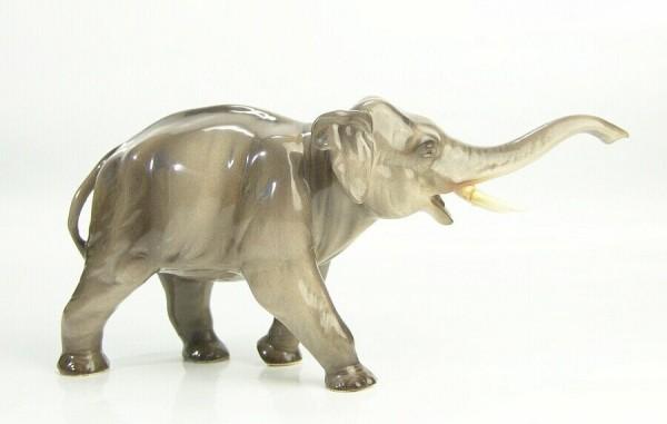 Keramik Elefant um 1930