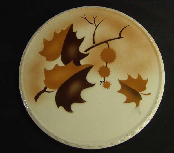 Art Deco Spritzdekor Keramik Tortenplatte