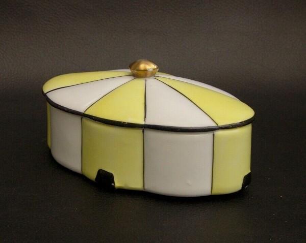 50er Jahre Deckeldose - Bonboniere - Steckenpferd - Keramik