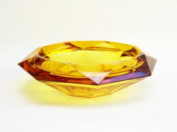 Große, schwere 50er Jahre Glas Schale - Obstschale - Konfekt - Diamant