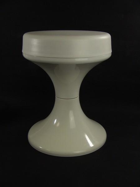 70er Jahre Tulpenfuss Hocker - Kunststoff - Grau