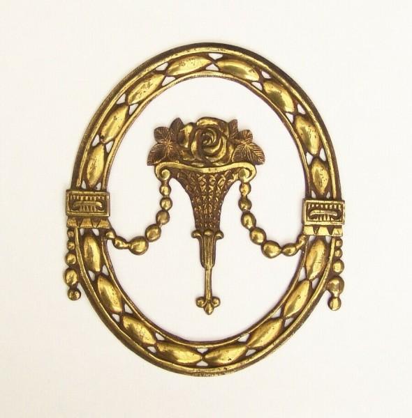Großer Antiker Möbelbeschlag - Messing / Bronze - Schranktür o.ä.